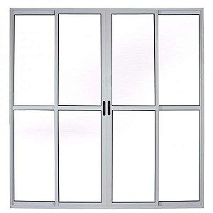 porta balcão 2.00 x 2.10 4 folhas branca