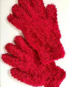 Luva de Pelúcia Vermelha