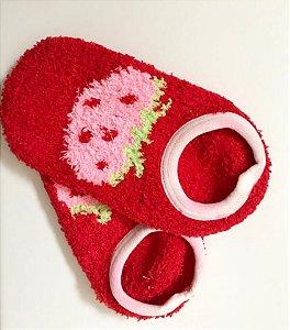 Meia Antiderrapante Vermelha Infantil