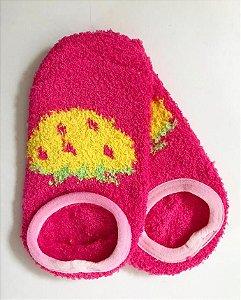 Meia Antiderrapante Pink Infantil