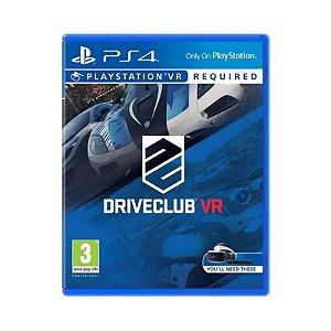 Jogo Driveclub VR - PS4 (USADO)