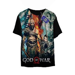 Camiseta God Of War - Kratos e Garoto