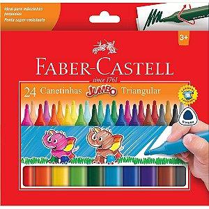 Canetinhas hidrográficas Jumbo Faber Castell 24 cores