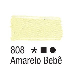 Tinta para tecido 37ml Acrilex 808 Amarelo Bebê