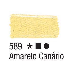 Tinta para tecido 37ml Acrilex 589 Amarelo Canário