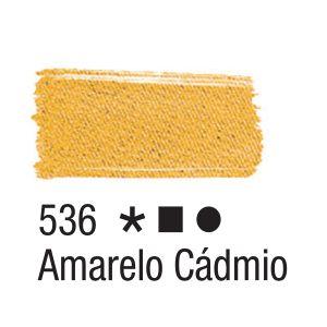 Tinta para tecido 37ml Acrilex 536 Amarelo Cádmio