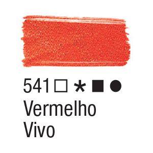 Tinta para tecido 37ml Acrilex 541 Vermelho Vivo