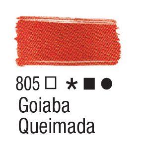 Tinta para tecido 37ml Acrilex 805 Goiaba Queimada