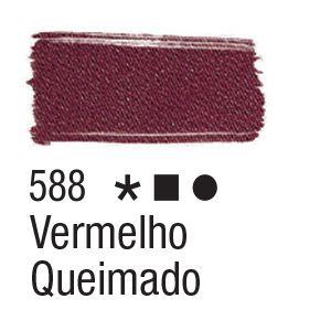 Tinta para tecido 37ml Acrilex 588 Vermelho Queimado