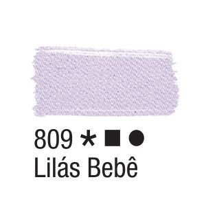 Tinta para tecido 37ml Acrilex 809 Lilás Bebê