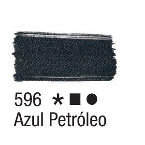 Tinta para tecido 37ml Acrilex 596 Azul Petróleo