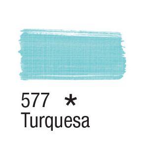 Tinta para tecido 37ml Acrilex 577 Turquesa