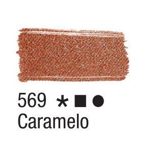 Tinta para tecido 37ml Acrilex 569 Caramelo