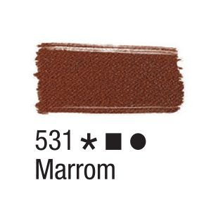 Tinta para tecido 37ml Acrilex 531 Marrom
