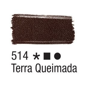 Tinta para tecido 37ml Acrilex 514 Terra Queimada