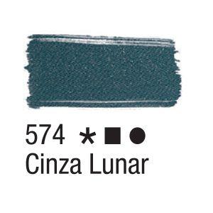 Tinta para tecido 37ml Acrilex 574 Cinza Lunar