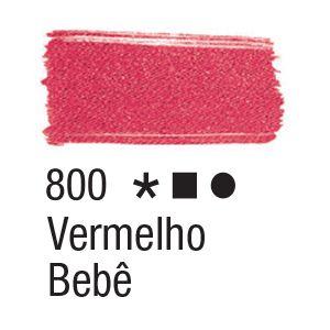 Tinta para tecido 37ml Acrilex 800 Vermelho Bebê