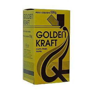 Clips para papel 3/0 Golden Kraft 445 unidades