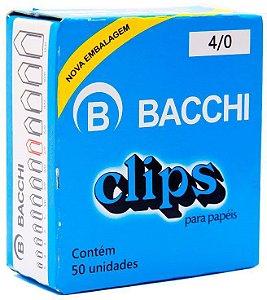 Clips para papel nº 4/0 Bacchi 50 unidades