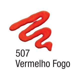 Tinta Acripuff 35ml Acrilex 507 Vermelho Fogo
