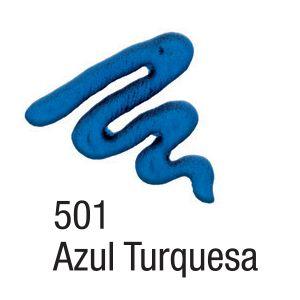 Tinta Acripuff 35ml Acrilex 501 Azul Turquesa