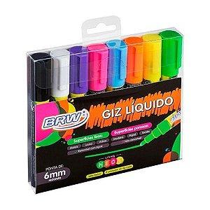 Giz Líquido Neon BRW 6 cores