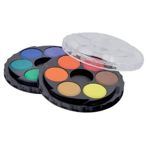 Aquarela em pastilhas Koh I Noor 12 cores