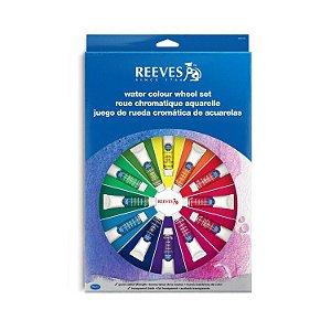 Kit Aquarela bisnaga Wheel Set Reeves 18 cores
