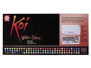 Aquarela pastilha Koi 96 cores Sakura