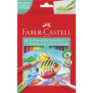 Lapis de cor Aquarelavel Faber Castell 36 Cores