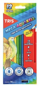 Lapis de cor Aquarelavel Mega Aquarell Tris 12 Cores