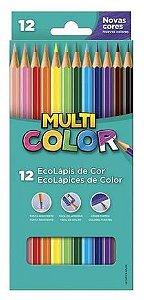 Lapis de cor Multicolor 12 cores