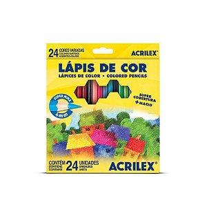 Lapis de cor Acrilex 24 cores
