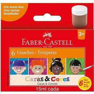 Tinta Guache Caras e Cores 15ml Faber Castell 6 cores