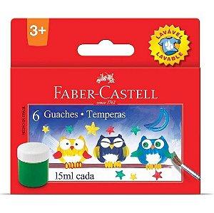 Tinta Guache 15ml Faber Castell 6 cores