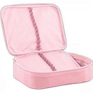 Estojo Box Academie rosa Tilibra