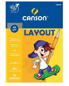 Papel Layout 63 g/m² Canson 50 folhas