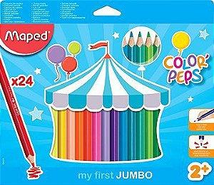 Lapis de cor Jumbo Maped 24 cores