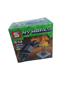 Mini bloco de montar minecraft, 30 peças.  Coleção My World