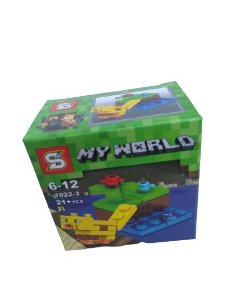 Mini bloco de montar minecraft, 21 peças.  Coleção My World