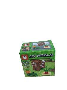 Mini bloco de montar minecraft, 25 peças.  Coleção My World