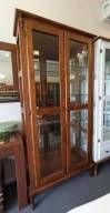 Cristaleira 2 Portas 3 Prateleiras com Espelho