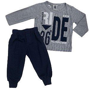 Conjunto Menino Camiseta e Calça Ride - Passagem Secreta