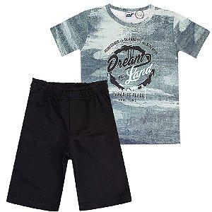Conjunto Camiseta Tie-dye e Bermuda - Passagem Secreta