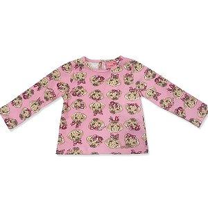 Blusa Infantil Suedine Cachorrinhos - Momi