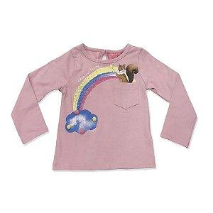 Blusa Infantil Suedine Arco Iris - Momi