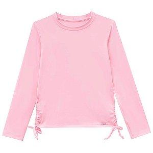 Camiseta Manga Longa Proteção Solar Rosa - Kukiê