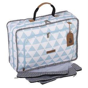 Mala Maternidade Vintage Manhattan Azul - Masterbag Baby