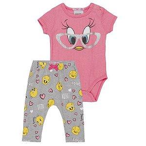Conjunto Infantil Feminino Looney Tunes Piu-Piu - Momi