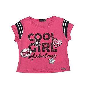 Blusa Infantil Feminina Cool Girl Pink - Vic & Vicky